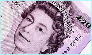 The Queen on a �20 note