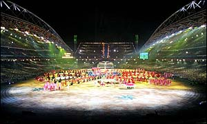 The opening ceremony at Sydney Olympics