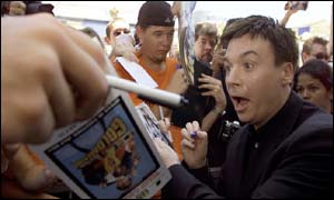 Mike Myers greets fans