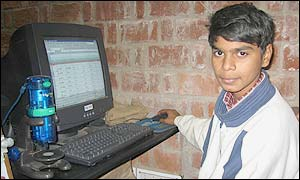 Child in Delhi at the Computer Clubhouse
