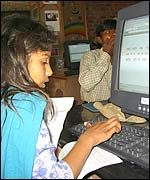 Girl at the Delhi Computer Club