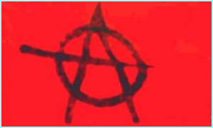 An anarchist flag
