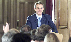 Tony Blair at the Downing Street press conference
