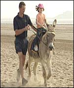 Donkey ride on beach