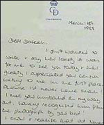 Diana letter