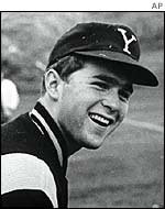 US President George W Bush during his time at Yale University