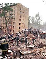 About 300 people died in the blasts in September 1999