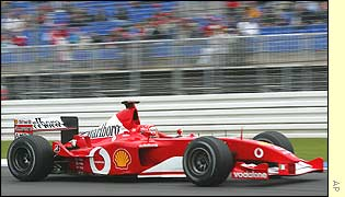Michael Schumacher in first practice at the German Grand Prix