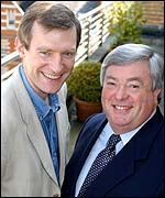 Jeremy Vine and James Moir