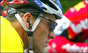 Armstrong begun the day as the yellow jersey holder