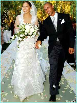 But she glowed the day she married dancer Cris in 2001 - shame it didn't last