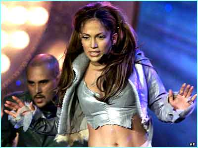Strutting her stuff at the MTV Europe awards in 2000