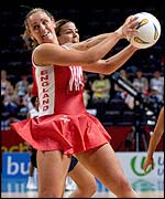 Tracey Neville was on form for England