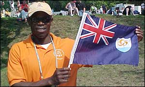 Anguilla team manager Cardigan Connor
