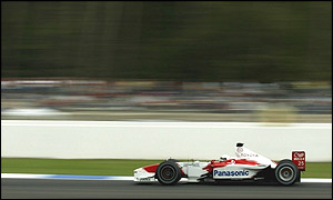 Allan McNish in qualifying at the German Grand Prix