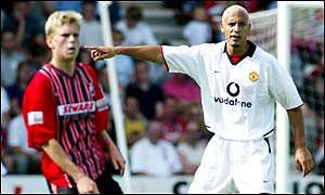 Rio Ferdinand (right)