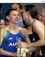 Irina Lashko is congratulated on her win by Jane Smith