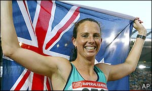 Australia's Jane Jamieson won the women's heptathlon