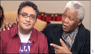 Zackie Achmat (left) and Nelson Mandela