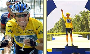 Armstrong celebrates en route and is crowned 2002 champion in Paris