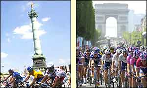 The riders arrive in Paris as the 89th Tour de France draws to a close