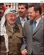 Yasser Arafat and King Abdullah in 1999