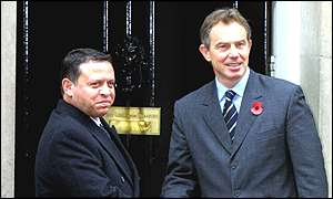 King Abdullah and Tony Blair