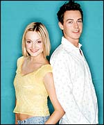 Fearne Cotton and Simon Grant