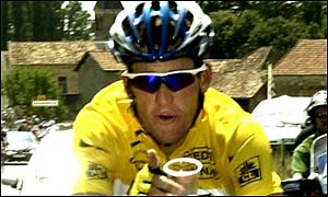 Lance Armstrong clinched his fourth Tour title