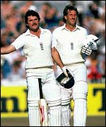 Allan Lamb (left) and Ian Botham