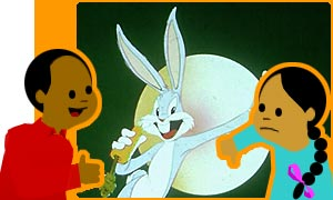 Bugs Bunny beat off Homer Simpson in a survey carried out by tvguide.com