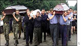 Funeral of air crash victims in Semenivka village, western Ukraine