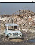 Wreckage in Grozny