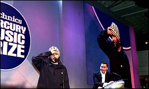 Badly Drawn Boy accepting the Mercury Music Prize in 2000