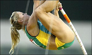 Grigorieva led an Australian 1-2 in the pole vault