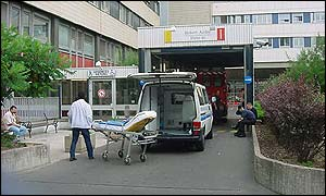 Scene at Paris hospital