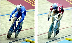 The men's sprint cycling at Manchester Velodrome saw the Commonwealth broken three times
