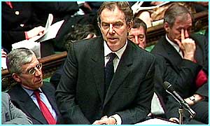 Tony Blair speaks in the House of Commons