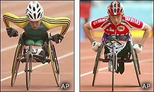 Eliza Jane Stankovic time of 1:53.29 is almost 12 seconds faster than Tanni Grey-Thompson's in semi final one