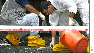 Forensic experts at scene