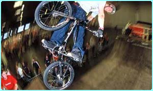 Doing stunts on bikes is very popular