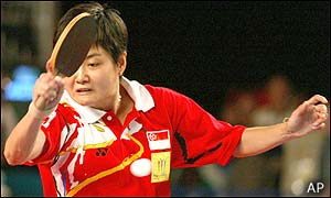 Jun Hong Jing in action for Singapore