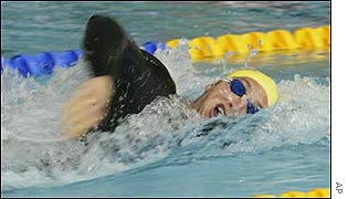 Australia's Ian Thorpe took nine tenths of a second off the old world mark