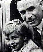 Young Rupert Murdoch with his father