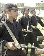Iraqi boys take part in military training