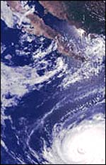 Hurricane Elida (European Space Agency)