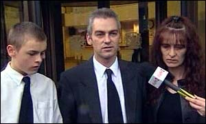 Lindsay family outside court