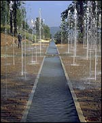 Gustafson's Terrason Fountains in France