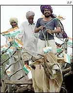 Farmers celebrating India's independence day