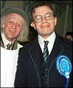 Harry Enfield and Paul Whitehouse in character